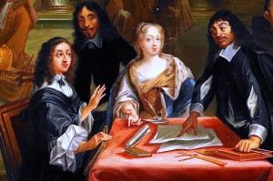 La reine Christine de Suède en conversation avec Descartes