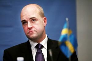 Actualité mardi 8 avril 2014, le Premier ministre suédois F. Reinfeldt en visite à Västerås