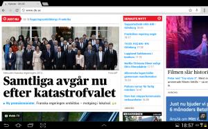 Actualité politique; La démission du gouvernement Ayrault est annoncée dans la presse suédoise