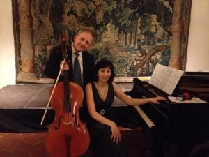 actualité musique Jeudi 3 avril Ola Karlsson et Valeria Resjan, jsute après le concert qu'ils ont donné au château de Västerås