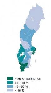 Actualités politiques Le sud de la Suède a une bonne opinion de l'Union européenne, contrairement au nord du pays