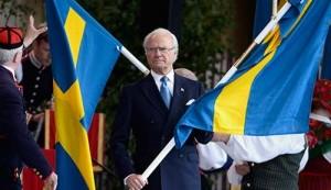 Actualités politiques société Le roi Charles XVI Gustave de Suède a célébré hier à Stockholm a Fête nationale suédoise entouré de 13 000 personnes