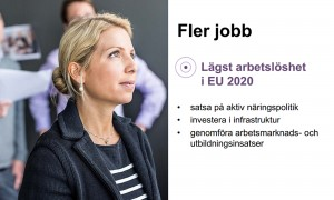 Le budget 2015 présenté par le gouvernement suédois prévoit des réformes nécessitant 25 milliards de couronnes, avec comme objectif faire de la Suède le pays avec le taux de chômage le plus bas de l'Union européenne en 2015