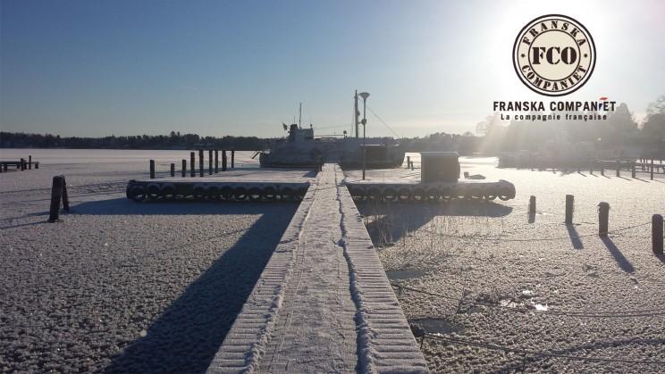 destination tourisme destination tourisme voyage lac Mälar, à Västerås, l'hiver. 2016